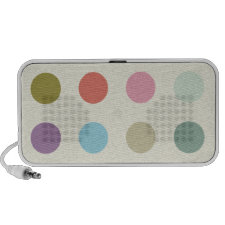 Retro Candy Colors Polka Dots Pattern Mp3 Speakers