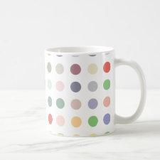 Retro Candy Colors Polka Dots Pattern Mugs