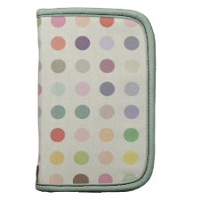 Retro Candy Colors Polka Dots Pattern Planner