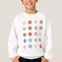 Retro Candy Colors Polka Dots Pattern Sweatshirt