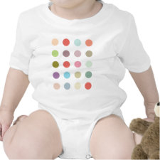 Retro Candy Colors Polka Dots Pattern Baby Bodysuits