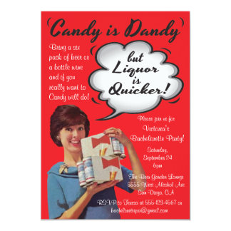 Retro Candy is Dandy Bachelorette Party Invitation