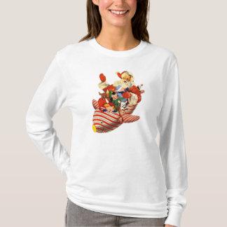 Retro Candy Rocket Santa Shirt