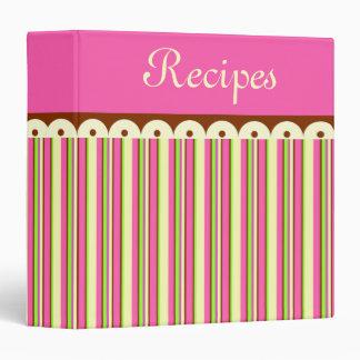 Retro Candy Shop Recipe Organizer Binder Gift
