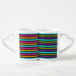 Retro Candy Stripe in Two Color Schemes Coffee Mug Set