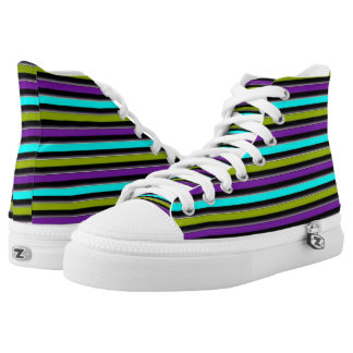 Retro Candy Stripe Printed Shoes