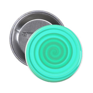 Retro Candy Swirl in Baby Blue Pinback Button