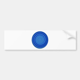 Retro Candy Swirl in Blueberry Blue Bumper Sticker
