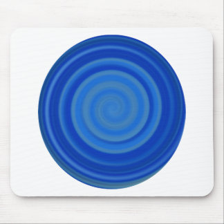 Retro Candy Swirl in Blueberry Blue Mouse Pad