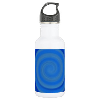 Retro Candy Swirl in Blueberry Blue Stainless Steel Water Bottle