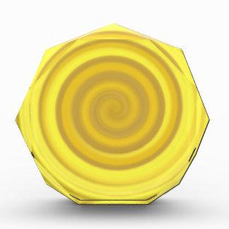 Retro Candy Swirl in Butterscotch Yellow Award