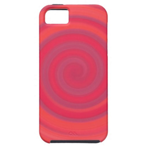 Retro Candy Swirl in Cherry Pink iPhone 5 Case