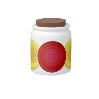 Retro Candy Swirl in Cherry Red Butterscotch Jar Candy Jar