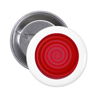 Retro Candy Swirl in Cherry Red Button