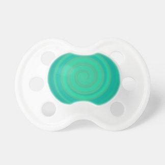 Retro Candy Swirl in Kiwi Teal Pacifier