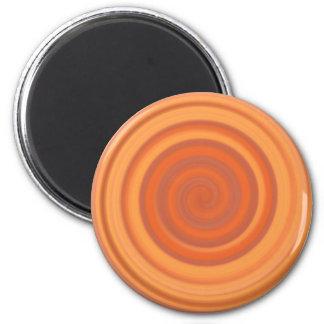 Retro Candy Swirl in Peach Orange Magnet