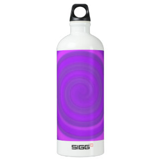 Retro Candy Swirl in Plum Pudding Aluminum Water Bottle