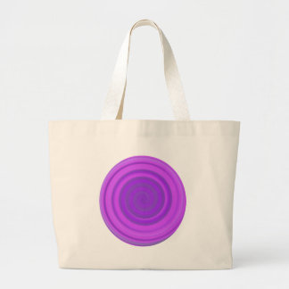 Retro Candy Swirl in Plum Pudding Large Tote Bag