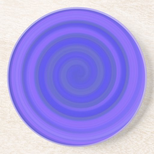 Retro Candy Swirl in Violet Blue Coasters