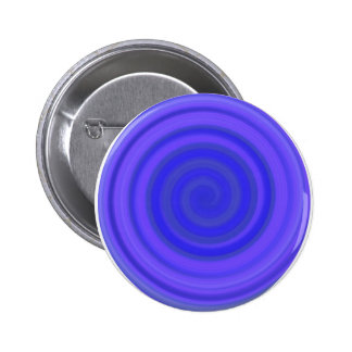 Retro Candy Swirl in Violet Blue Pinback Button