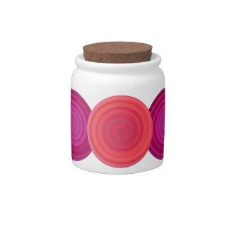 Retro Candy Swirl Plum Cherry Pink Candy Jar