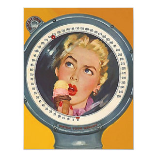 "Retro ""Captive"" of her weight scale Invitations"
