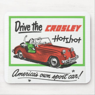 retro car advert mouse pad