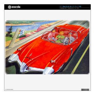 "RETRO CAR DESIGN (VINTAGE ILLUSTRATION) 11"" MacBook AIR SKINS"