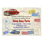 Retro Car Going Away Party Invitation - New Home