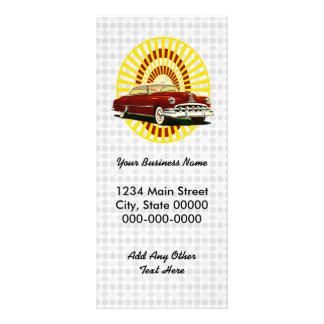 Retro Car Rack Card