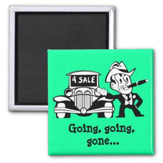 Retro Car Salesman Guy Magnet