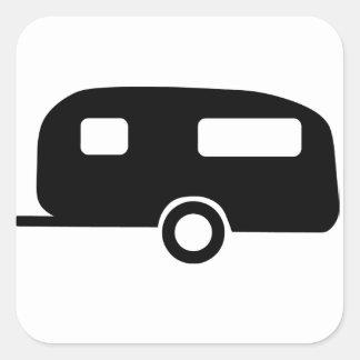Retro Caravan Square Stickers