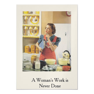 Retro Card..A Woman's Work is Never Done Card
