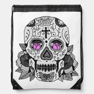 Retro Carnival Steampunk Sugar Skull Any Color Drawstring Backpack
