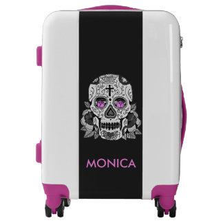 Retro Carnival Steampunk Sugar Skull Personalized Luggage