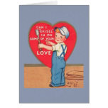 Retro Carpenter Valentine's Day Greeting Card