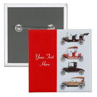 RETRO CARS 2- Auto repair automotive ,red Pinback Button