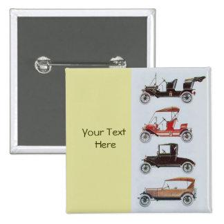 RETRO CARS 2- Auto repair automotive ,yellow Pinback Button