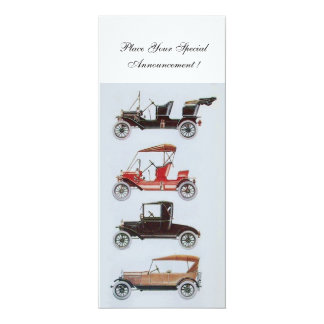 RETRO CARS 2 , AUTO RESTORATION ,blue white Card