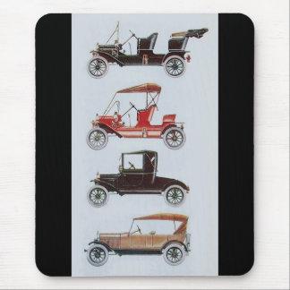 RETRO CARS 2 , AUTO RESTORATION grey black red Mouse Pad