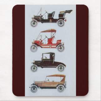 RETRO CARS 2 , AUTO RESTORATION grey brown red Mouse Pad