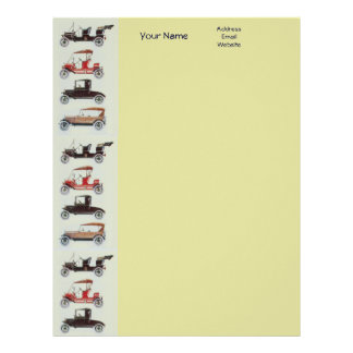 RETRO CARS 2 AUTO RESTORATION grey red black Letterhead
