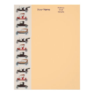 RETRO CARS 2 AUTO RESTORATION grey red black pink Letterhead