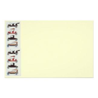 RETRO CARS 2 , AUTO RESTORATION grey red cream Stationery