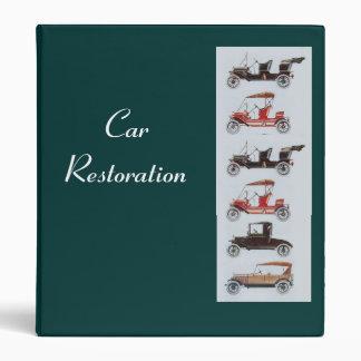 RETRO CARS 2  RESTORATION 3 RING BINDER
