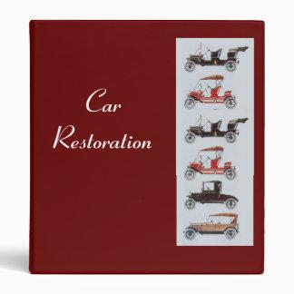 RETRO CARS 2  RESTORATION BINDER