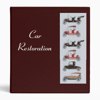 RETRO CARS 2  RESTORATION ,brown 3 Ring Binder