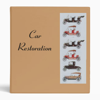 RETRO CARS 2  RESTORATION brown Binder