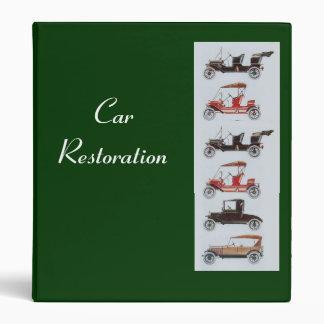 RETRO CARS 2  RESTORATION green Binder