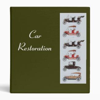 RETRO CARS 2  RESTORATION khaki Binder